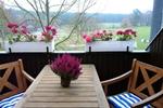 Balkon des Reiterhof Appartement für 2 Personen im Reiterdorf Lüneburger Heide