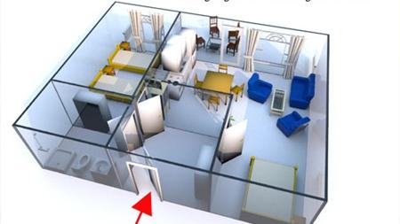 Grundriss des Reiterhof Appartement für 2 - 4 Personen im Reiterdorf Lüneburger Heide
