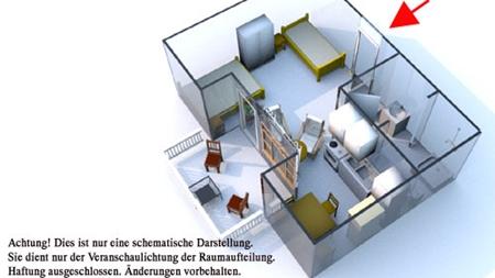 Grundriss des Reiterhof Appartement für 2 Personen im Reiterdorf Lüneburger Heide