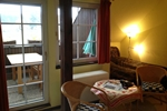 Wohnzimmer des Reiterhof Appartement für 2 Personen im Reiterdorf Lüneburger Heide