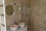 Badezimmer des Komfortferienhaus für 4 Personen im Reiterhof Lüneburger Heide