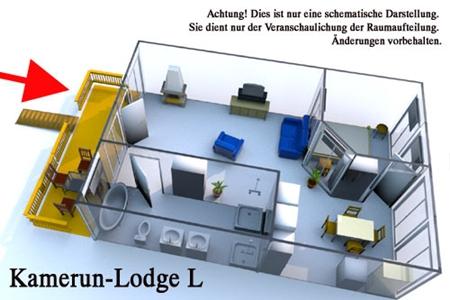Grundriss der Luxus Ferienwohnung für 2 Personen im Reiterdorf Lüneburger Heide