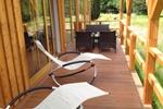 Veranda des Komfortferienhaus für 4 Personen im Reiterhof Lüneburger Heide